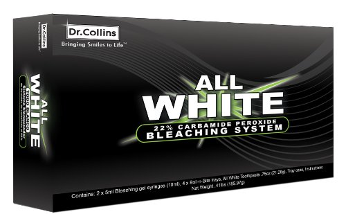 Review of Dr. Collins' 22% Carbamide Peroxide Teeth Whitening Kit.
