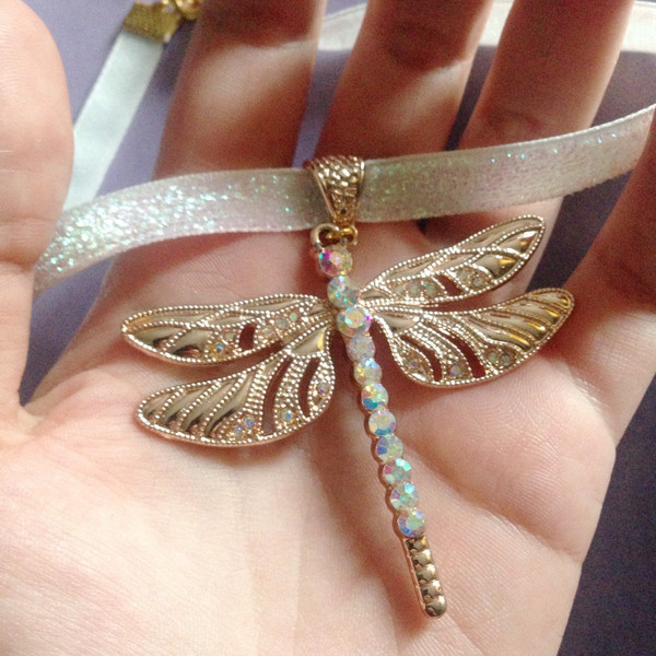 Review: Jewelsy – Iridescent Dragonfly Choker – KATIE ROSE