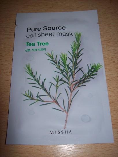 Missha - Pure Source Cell Sheet Mask (Tea Tree)