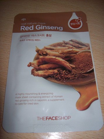 The Face Shop - Red Ginseng Real Nature Mask