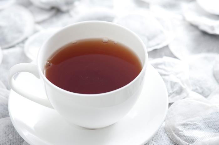 Cup of freshly brewed black tea