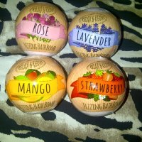 Strawberry, Rose, Mango & Lavender Fizzing Bath Bombs from Home Bargains