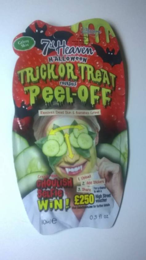 7th heaven halloween trick or treat yourself peel off face mask the mask itself is a slightly transparent bright green colour and has a sticky gel consistency with a lovely citrus lime scent solutioingenieria Images