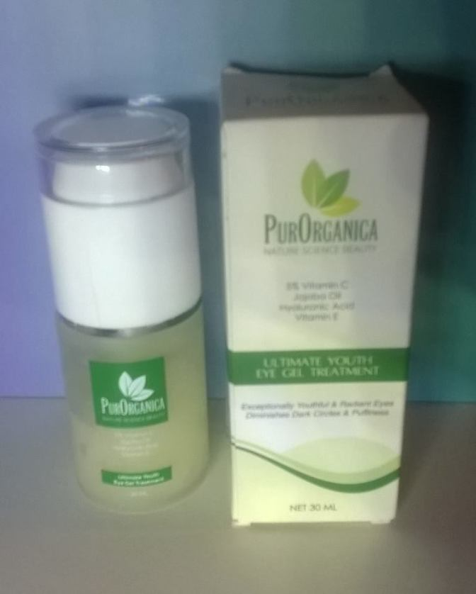 Review: PurOrganica – Ultimate Youth Eye Gel Treatment For Dark Circles, Bags & Wrinkles