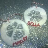 How To Make Christmas Salt Dough Paw Print Ornaments