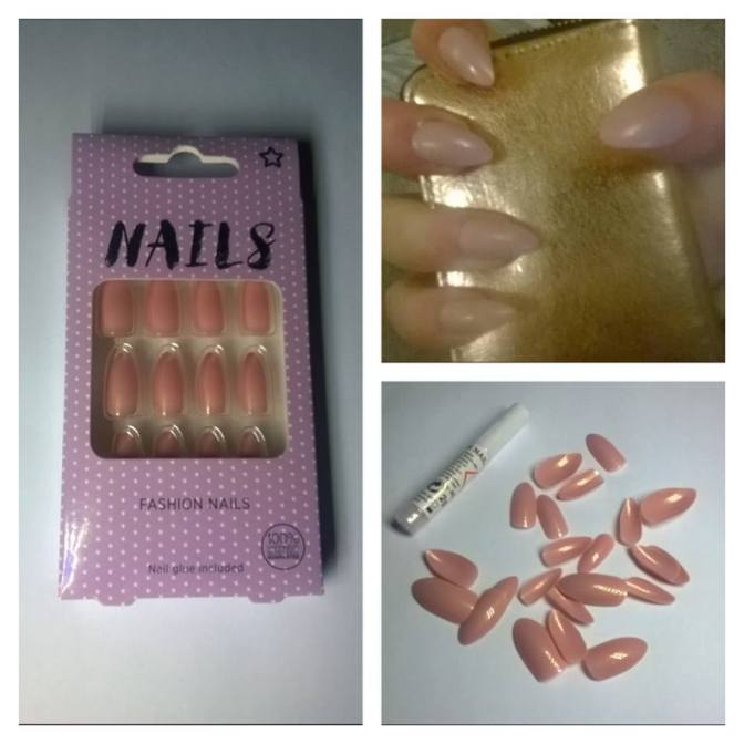Review: Superdrug – Stiletto Pink Shimmer Fashion Nails