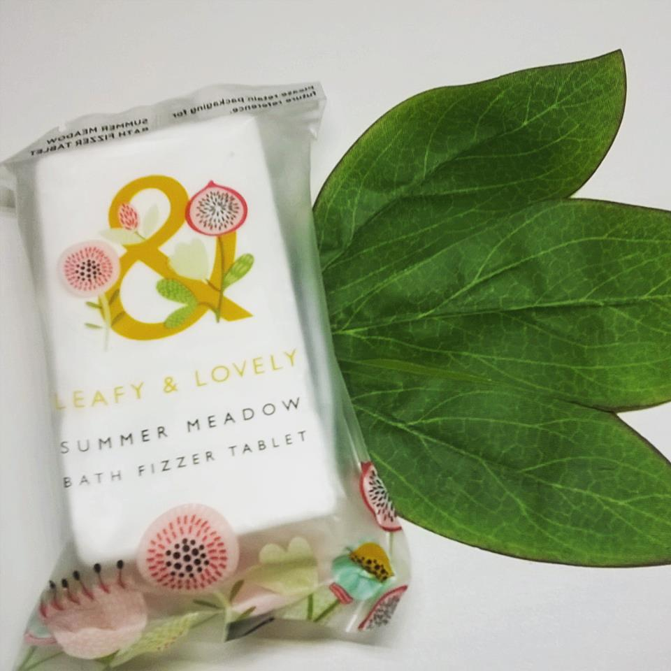 LEAFY & LOVELY - Summer Meadow Bath Fizzer Tablet From Superdrug Review x