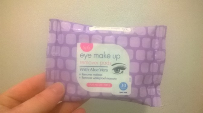 Review: Spa – Eye Make-Up Remover Pads With Aloe Vera (Home Bargains)