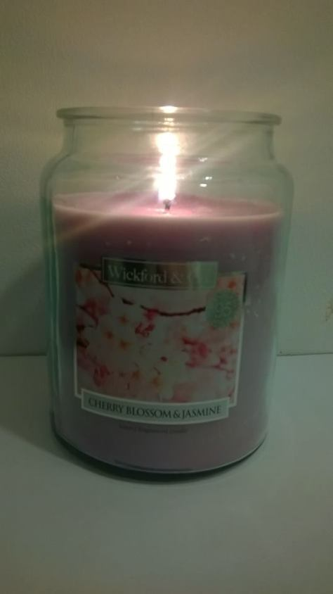 WICKFORD & CO CANDLES HOME BARGAINS CHERRY BLOSSOM & JASMINE 5