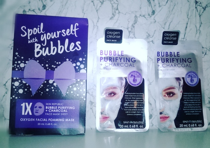 REVIEW: Skin Republic – Bubble Purifying + Charcoal Foaming Face Mask Sheet (Oxygen Cleanse)
