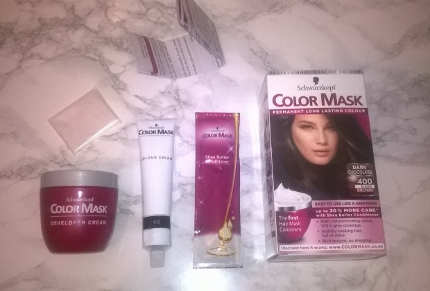 COLOR MASK SCHWARZKOPF DARK BROWN 400 HAIR DYE REVIEW
